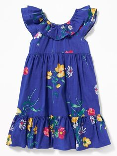 Floral Tiered Swing Dress for Toddler Girls Cute Little Girl Dresses, Toddler Girl Dresses, Cute Little Girls, Toddler Girls, Kids Girls, Girls Dresses, Summer Dresses, The Dress, Baby Dress
