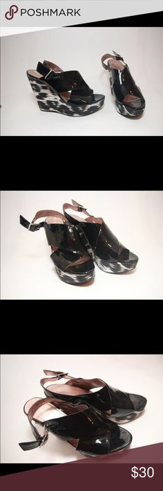 *BCBGeneration* Woman's Wedges (BG) 9/10 condition. Almost like new. Patent leather  material. Size 40. 3.5 inches (heel). Please do not hesitate to ask any questions or for more pictures. Thank you for your time and have a wonderful day! BCBGeneration Shoes
