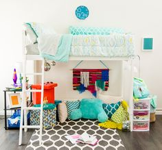 On the hunt for decor ideas on a budget for back to college this fall? Check out these easy + affordable tips for decorating your dorm room in style. Learn how to create your own simple + colorful custom art for your dorm room walls and how to use collapsible mix + match storage ottomans from Walmart to free up space and create extra seating for your dorm! A total win-win. #partner
