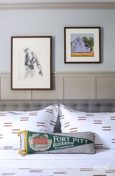 Master Bedroom Makeover Reveal #masculine #modern #country #bedroom #design #oneroomchallenge Home Bedroom, Bedroom Decor, Bedroom Ideas, Inspired By Charm, Master Bedroom Makeover, Modern Country, Gallery Wall, Diy Crafts, Decorating Ideas