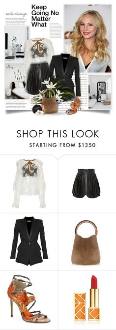 """""""Keep Going No Matter What"""" by thewondersoffashion ❤ liked on Polyvore featuring Dolce&Gabbana, Brandon Maxwell, Balmain, Marni, Jimmy Choo, Tory Burch and River Island"""