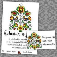svadobné oznámenie s motívom folklóru...wedding invitation Dna, Gout