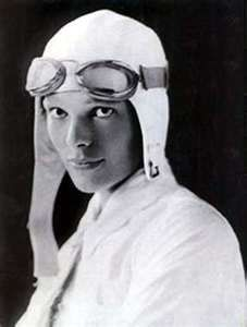 Amelia Earhart..1st in a class with no equals..flying for me..I can't escape...I'm in the mood...
