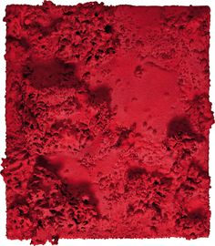 """""""Bas-reliefs dans une forêt d'éponges"""", 1959 / Yves Klein (1928-1962) Yves Klein, International Klein Blue, Nouveau Realisme, One Color, Color Red, Red Aesthetic, Texture, French Artists, Painting & Drawing"""