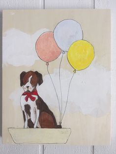 Boxer and balloons by muralsbyshauna on Etsy https://www.etsy.com/listing/267886268/boxer-and-balloons