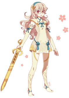 I wanted to design a hoshidan princess outfit for kamui since all we ever see is the nohrian one…