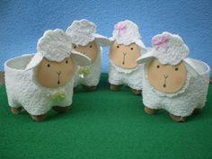 novinhas 019 Kids Crafts, Sheep Crafts, Ramadan Crafts, Diy Home Crafts, Diy Arts And Crafts, Diy Craft Projects, Preschool Crafts, Holiday Crafts, Diy Para A Casa