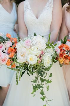 Wedding Bouquet with Trailing Ivy A Pastel Spring Wedding at Springdale House and Gardens Photographer: Jessica Hunt Photography