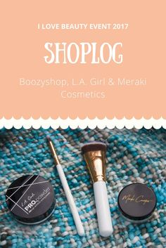 I shopped a few things at the I Love Beauty Event. Today I show you all the goodies I bought. Enjoy!