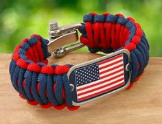 Survival Wrist Band Red White #USA, #americanflag, #pinsland, https://apps.facebook.com/yangutu