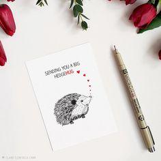 Sympathy Card | Hedgehog | Cute Cards | Love Cards