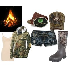 Backwoods Bonfire! - Polyvore definately with cowboy boots rather than those