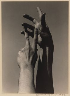 Hands of Kreutzberg; Edward Weston (American, 1886 - 1958); April 12, 1932; Gelatin silver print; 25.1 x 18.1 cm (9 7/8 x 7 1/8 in.); 87.XM.61.1; Copyright: © 1981 Arizona Board of Regents, Center for Creative Photography