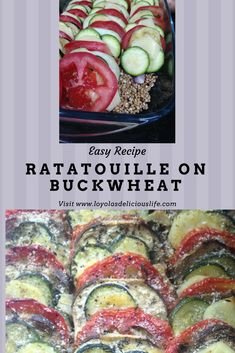 Easy and fast meal for the family ratatouille on buckwheat super healthy and delicious.