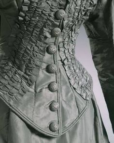 Detail of a bodice - Late Victorian