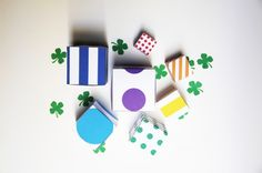 Studio DIY-Rainbow nesting boxes for St. Patrick's Day