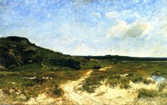 Dunes de sable d Essex, Massachusetts, huile sur toile de William Lamb Picknell (1853-1897, United States)