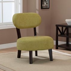 @Overstock - This Jupiter chair brings style to your decor with a green artichoke fabric and an espresso finished frame. A button tuft in the center of the seat cushion highlights this fun chair.http://www.overstock.com/Home-Garden/Jupiter-Artichoke-Chair/5901773/product.html?CID=214117 $129.99