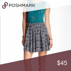 🎉FREE PEOPLE So Much ☀️Sun☀️Skirt🎉 Swingy printed skirt flaunts pleated detailing at elastic waist. Mid-rise design.  Super cute and convenient side pockets with flaps! Flared hemline falls at a flirty length. 100% cotton. Machine wash. Free People Skirts Midi