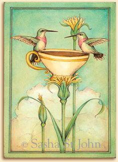 Tea For Two watercolor by Sasha St John