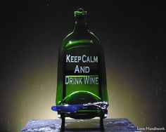 """You are looking at slumped (melted) bottle cheese board wall hanging with a """"Spread the Love"""" labelled spreader knife. The bottle has """"Keep Calm and Drink Wine"""" etched on it. Please look at my listin Wine And Liquor, Drink Wine, Liquor Bottles, Glass Bottles, Slumped Glass, Fused Glass, Bottle Slumping, Keep Calm And Drink, Recycled Bottles"""