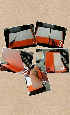 """HOW TO MAKE 2 """"LONG WALLET STYLE"""" FOLDERS FOR NEW TRACTS. 1. Get a folder and scissors.  2. Cut folder down the middle.  3. Fold over pocket.  4. Cut over lapping piece.  5. Place tract in folder.   They come out juat the right size!!!!"""