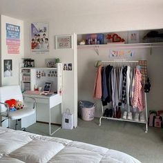 Room Design Bedroom, Room Ideas Bedroom, Small Room Bedroom, Army Room Decor, Study Room Decor, Decor Room, Teenage Room Decor, Study Rooms, Indie Room