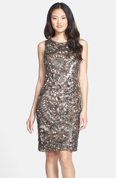 Pisarro Nights Sequin Sheath Dress