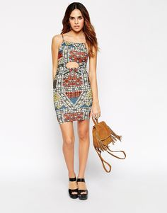 $24  ASOS PETITE Glam Festival Body-Conscious Dress with Cut Out Detail
