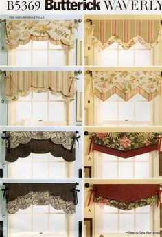 Very Pinteresting - Valances. Like the top 2  on the right