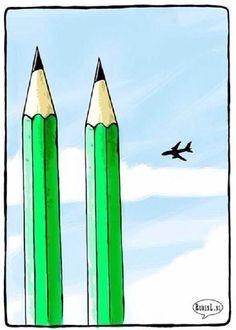 Hommage en dessins aux dessinateurs de Charlie Hebdo