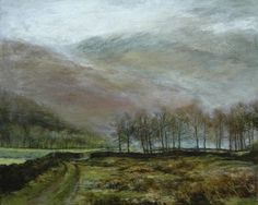 'Rained On' Landscape oil painting by http://www.suelawson.co.uk/