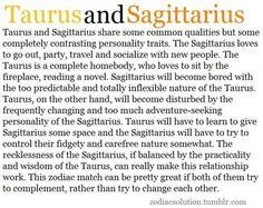 Taurus and sagittarius couples