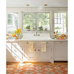 Must-Have Salvaged Kitchen Sink From Fixer-Upper to Refined Farmhouse (30.985 BRL) ❤ liked on Polyvore featuring rooms, kitchen, houses, backgrounds and home