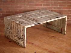 Coffee table from old door. I love the way the sides are cut to fit. Great idea.
