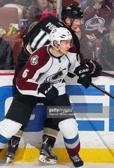 Erik Johnson  6 of the Colorado Avalanche pins Corey Perry  10 of the  Anaheim 4034a9f8d