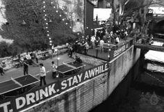 beer garden at Easy Tiger