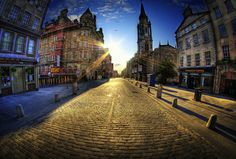 The Royal Mile At Golden Hour | Edinburgh, Scotland