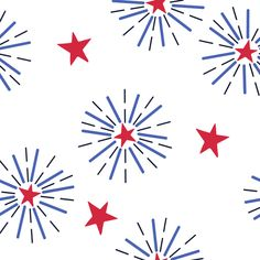 Colorful fabrics digitally printed by Spoonflower - Independence Day fireworks // of July // Summer red, white, and blue // Stars and stripes for kids Bullet Journal Month, Bullet Journal Ideas Pages, Bullet Journal Inspiration, 4th Of July Wallpaper, Holiday Wallpaper, Independence Day Fireworks, 4th Of July Fireworks, July Background, Fireworks Background