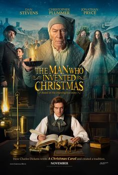 """THE MAN WHO INVENTED CHRISTMAS The journey that led to the creation of Ebenezer Scrooge (Christopher Plummer) and other classic characters from """"A Christmas Carol."""" The film shows how Charles Dickens (Dan Stevens) conjured up a timeless tale. Films Hd, Films Cinema, Hd Movies, Film Movie, Movies Online, Movies Free, Night Film, Christmas Movies, Christmas 2017"""