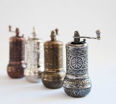 Fancy - Turkish Traditional Black Pepper, Salt and Spice Grinder coffee grinder Food Storage Boxes, Spice Grinder, Home Tools, Kitchen Tools And Gadgets, Cooking Gadgets, Cooking Tools, Stainless Steel Types, Fancy, Le Moulin