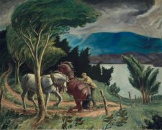 John Steuart Curry (American, 1897–1946) Storm Over Lake Otsego 1929