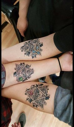 Brothers and Sister Leyend of Zelda Tattoo                                                                                                                                                                                 Mehr