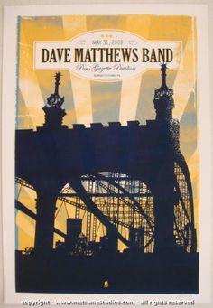 2008 Dave Matthews Band - Burgettstown II Concert Poster Methane