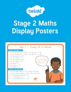 A fabulous set of posters showing the learning outcomes for Stage 2 maths. Great for wall displays, sharing learning intentions with students and parents, as well as goal setting. Maths Display, Classroom Displays, Year 2, Numeracy, Hands On Activities, Kindergarten, Stage, Knowledge, Posters