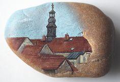 Olejomalba na křemenu přibližného formátu 70x50 mm. Městec Králové