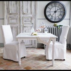 Mesa de comedor extensible de madera blanca An. 100 cm