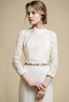APAKENA/long sleeve wedding dress/boho wedding by VICTORIASPIRINA