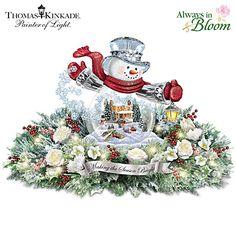 Thomas Kinkade Making The Season Bright Snowglobe