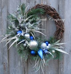 Hanukkah Wreath, Holiday Wreath, Designer Holiday, Elegant Christmas, Christmas Wreath, Winter Wreath